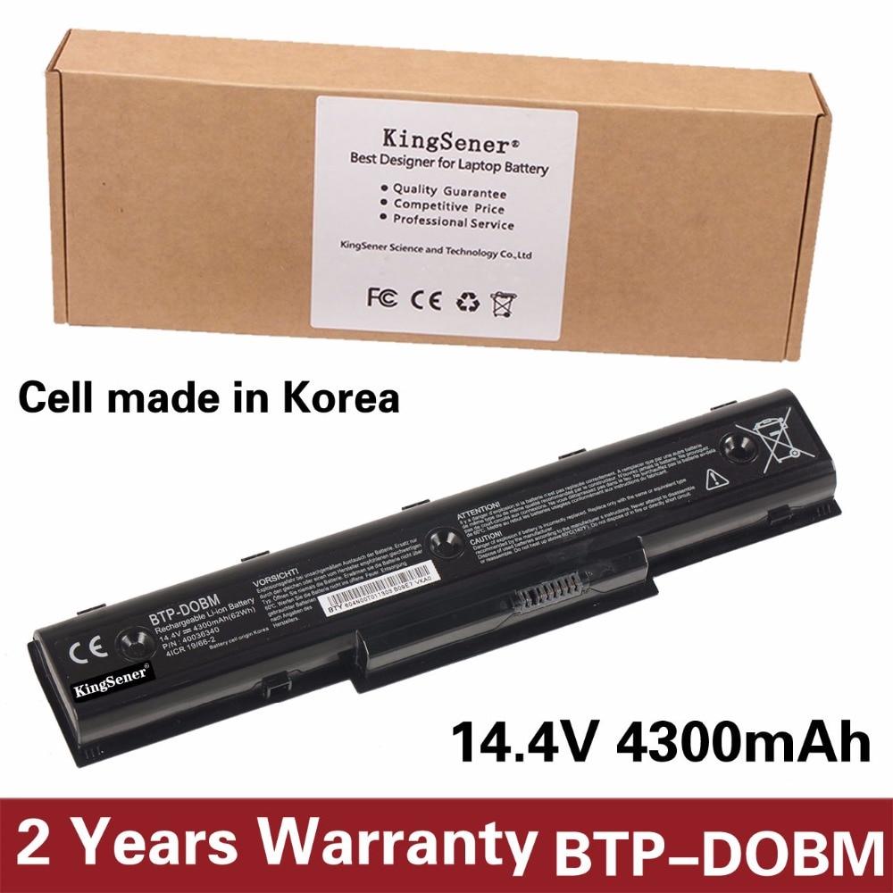 KingSener Korea Cell BTP-DOBM Battery for Medion Akoya E7218 P7812 P7624 MD98920 MD98680 MD98950 BTP-DNBM 40036339 62WH 8CELL 14 4v 3000mah us55 4s3000 s1l5 40046152 4icr19 66 original battery for medion akoya md98736 s6212t md99270 s6615t s621xt s6211t