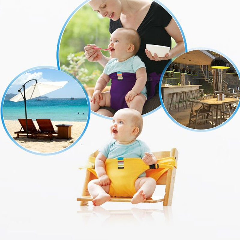 Portable Baby Chair Infant Seat Product Dining Lunch Chair Seat Safety Belt Feeding High Harness M09