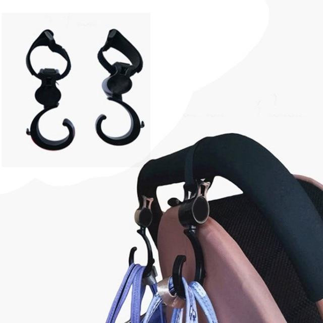 2pcs/ Baby Hanger Baby Bag Stroller Hooks Pram Rotate 360 Degree Cart Hook Accessories 5