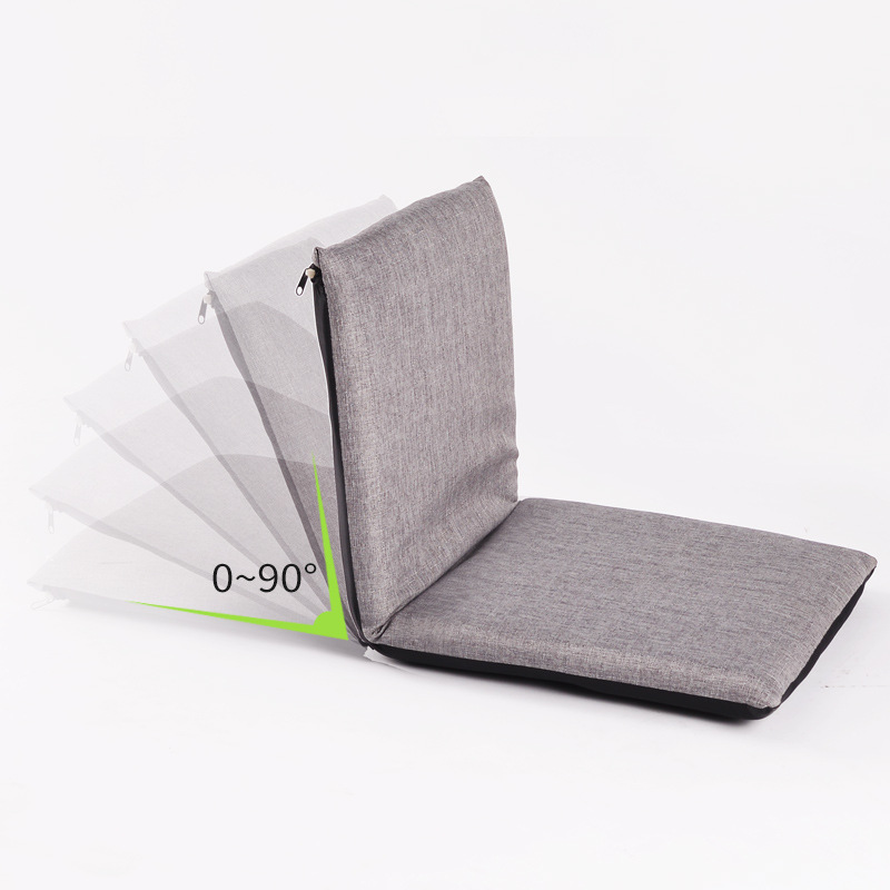 Foldable Floor Chair Adjustable Relaxing Lazy Sofa Seat Cushion Lounger Single-person Folding Bed Small Sofa Back Chair Window