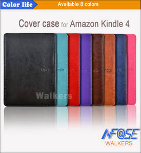 Magnetic Case For Amazon Kindle 4 Slim PU Leather Cover for Kindle 5 Auto Sleep Funda Capa for Kindle Touch 42012