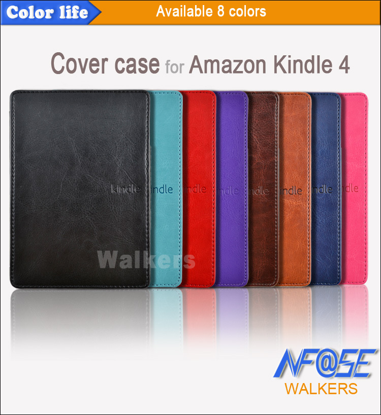 For Amazon Kindle 4 /5th Magnetic Case Cover For Kindle 5 Luxury Leather Folding Kindle Capa For Kindle 4 Free Gift