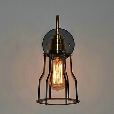 цена на IWHD Loft LED Wall Light Retro Vintage Wall Lamp American Country Bedside Sconce RH Fixtures For Home Lighting Indoor Luminaire