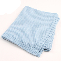 Newborns Acrylic Knitted Swaddle Wrap Baby Blankets Super Soft Toddler Winter Sleeping Bedding Stroller Carseat Cover