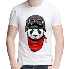 Newest 2017 men's fashion short sleeve cute panda printed t-shirt Harajuku funny tee shirts Hipster O-neck cool tops