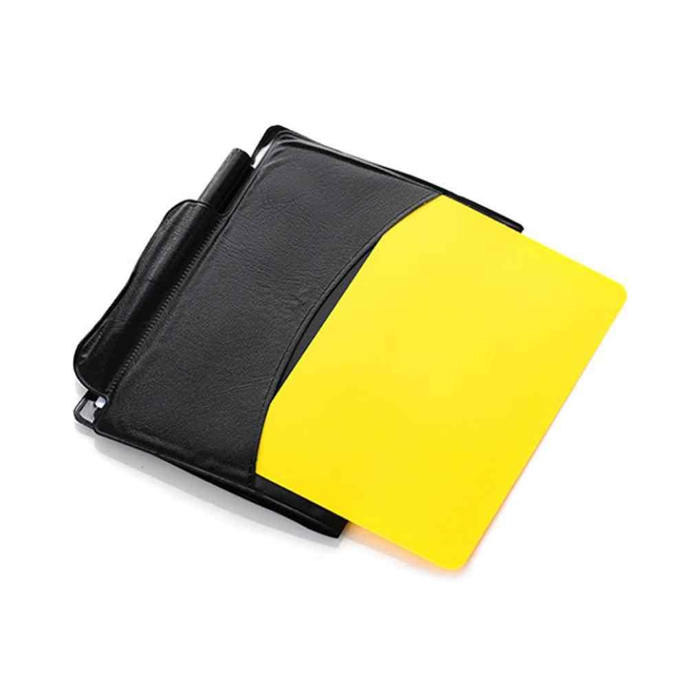 PVC Libretto di Arbitro di Calcio Caso Standard di Prenotazioni Gioco di Intrattenimento Grande Moda