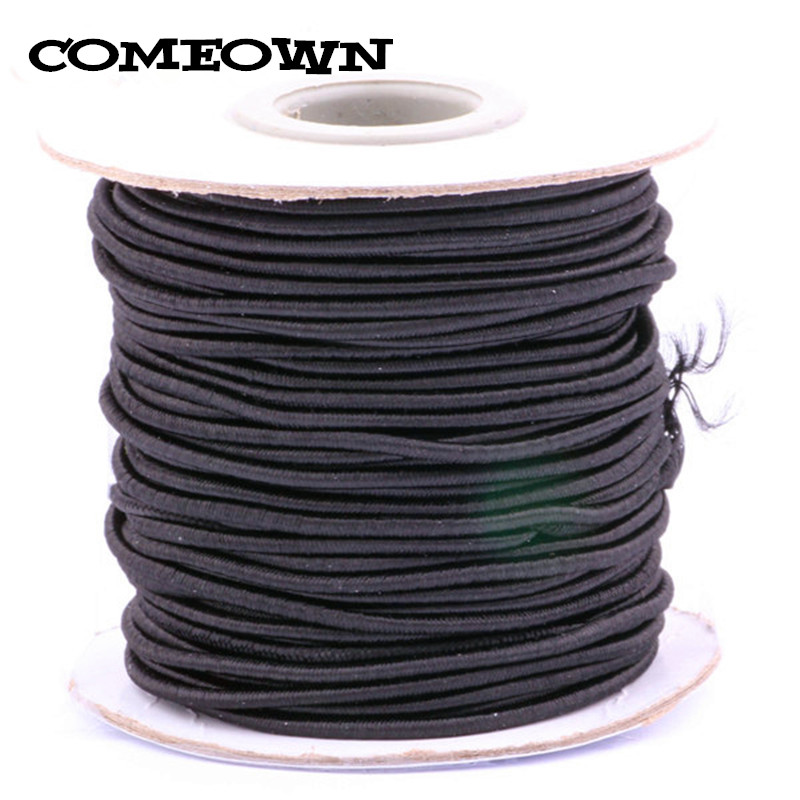 COMEOWN <font><b>2mm</b></font> 30Yards/roll Round Strong <font><b>Elastic</b></font> Stretch Beading Wire/<font><b>Cord</b></font>/String/Thread for DIY Jewelry Making Findings 9 Colors image