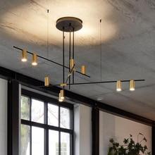 Скандинавская Светодиодная потолочная люстра в стиле пост модерн, креативный дизайнерский подвесной светильник для столовой, гостиной, кофейного цвета