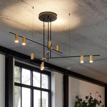 Candelabros de techo LED postmodernos escandinavo iluminación creativo  diseñador lámpara colgante comedor sala de estar café Lustre