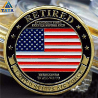 Precious For Collection The USA Air Force Retirement Commemorative Coins With Round Box Usa 40mm*3mm military Coin