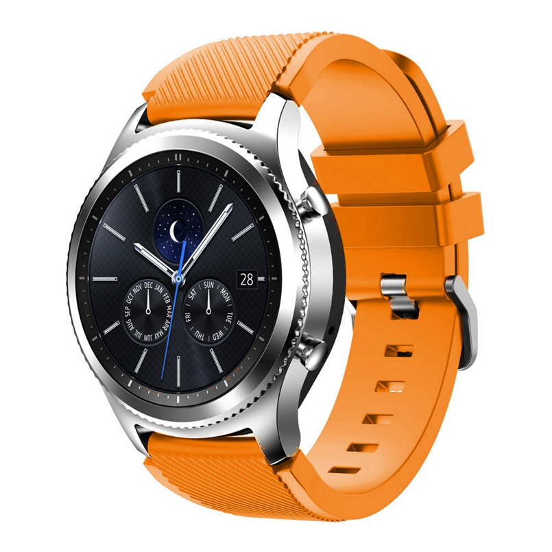 Excellent Quality Rubber Wrist Strap for Samsung Gear S3 Classic Silicone Watch Band Bracelet Band 22mm dropship #03