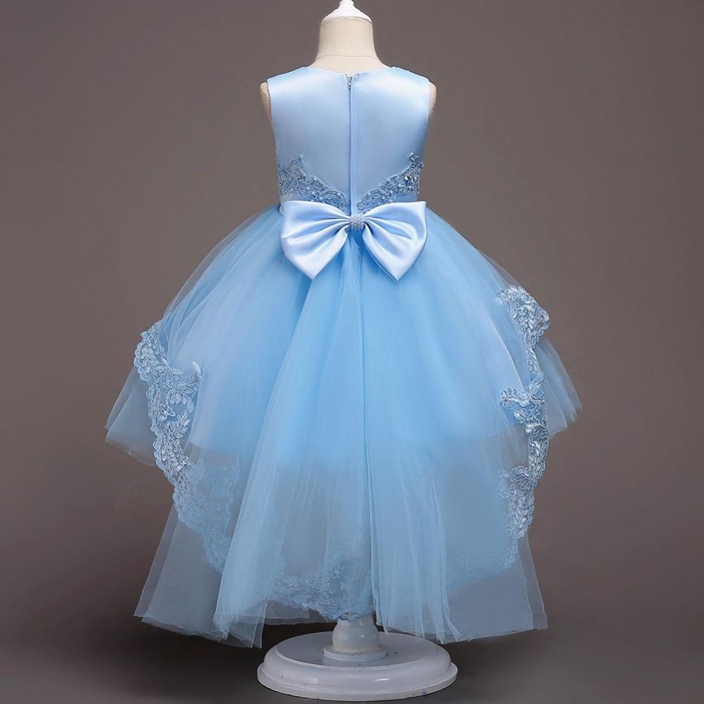Жаркое лето Платье для девочек с цветочным узором для свадьбы и вечерние Детские платья принцессы для девочек костюм для маленьких детей Од...