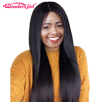 180 Density Brazilian Straight Wig Pre Plucked Lace Front Human Hair Wigs With Baby Hair Nonremy