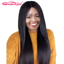 180% Density Brazilian Straight Wig Pre Plucked Lace Front Human Hair Wigs With Baby Hair Nonremy Wonder girl Lace Frontal Wigs
