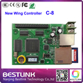 new wing led controller card C8+hub40+sd card video control card outdoor led screen led video wall full color led message sign