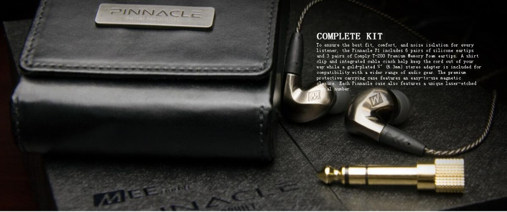 High Quality MEE-audio Pinnacle P1 Wired In Ear Earphones Audiophile Earphones With Detachable Cables Acoustic Headset With Mic