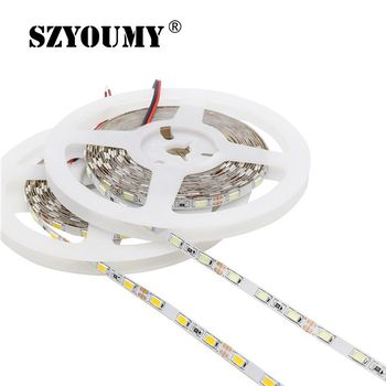 цена на 5M 300 SMD 5630 LED Strip 12V Flexible LED Lighting Light 5MM PCB Width 60 Led/M LED Tape Light White/ Warm White