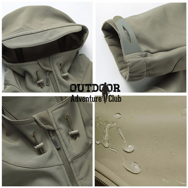 Lurker Shark Skin Softshell V4 Military Tactical Camouflage Hooded Camo Army Waterproof Windproof Warm Jacket