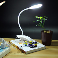 3 Colors Adjustable Desk Lamp USB Table Lamp 14 LED With Clip Reading Bed Light LED