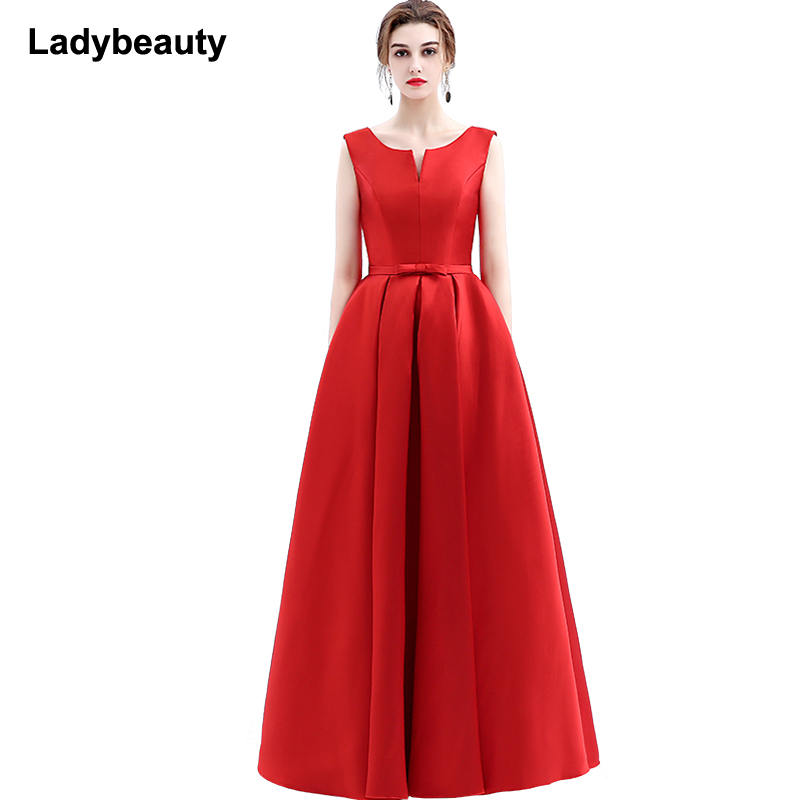 2018 new arrival elegant   evening     dresses   V-opening back lace-up   dresses   formal party   dress   Floor-length vestidos de festa