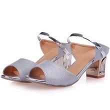 2016 NEWEST Fashion Flicker summer high heel women's sandals lady pumps Dew heel fish head gladiator sandals for women sandalen