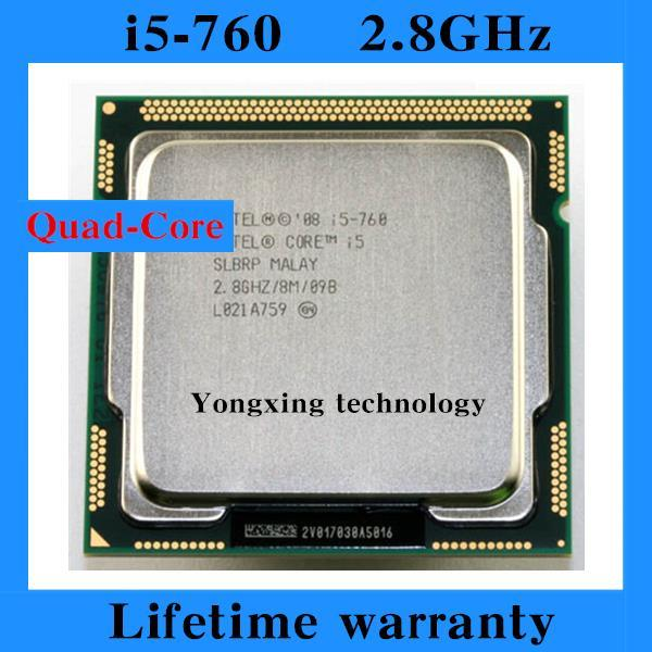 Lifetime warranty Core i5 760 2.8GHz 8M SLBRP Quad Core Four threads desktop processors Computer CPU Socket LGA 1156 pin