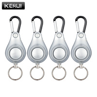 4pcs Lot DOBERMAN SECURITY High Quality Silver Personal Pull Ring Triggered Anti Attack Safety Personal Alarm