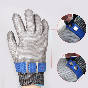Image 3 - Stainless Steel Wire Safety Gloves Safety Anti cut Stab Resistant Work Gloves Cut Metal Mesh Butcher Anti cutting Work Gloves