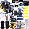 UNO Proyecto Inteligente Robot Car Kit con UNO R3/Sensor ultrasónico módulo/Bluetooth/Control Remoto Coche de Juguete Educativo para ARDUINO