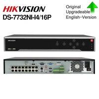 Hikvision POE DS 7732NI I4/16 P 16CH H.265 12mp POE NVR für Ip kamera Unterstützung zwei wege Audio HIK CONNECT-in Überwachungsvideorekorder aus Sicherheit und Schutz bei