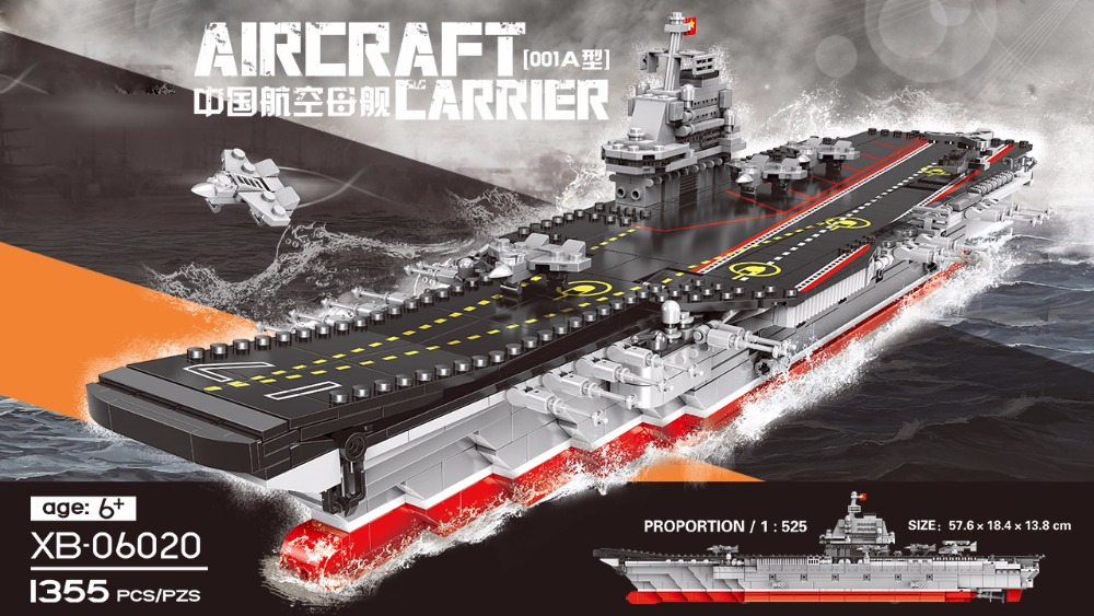 1:525 scale modern military world wars china carrier liaoning moc building block ww2 Varyag model aircraft brick toys collection hot modern military china aircraft liangning varyag carrier moc building block 1 525 scale model 1355pcs bricks toys collection