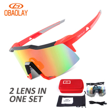 New 2 Lens 7 Colors Polarized Outdoor Sports Glasses UV400 Men Women Bike Bicycle Eyewear Mtb Sport Goggles Skiing Sunglasses