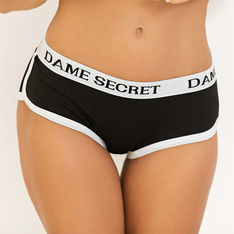 Women Letters Panties Seamless Mini Yoga Shorts Sexy Slimming Sports Low Waist Quick Dry Shorts Gym Workout Jogging Shorts
