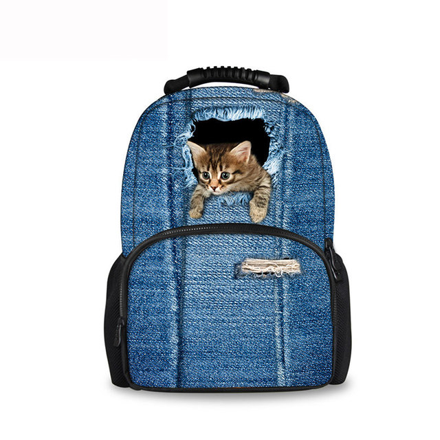 Noisydesigns 2018 Newest Happy Satchels Cowboy Cat Fashion School Bags for Childrens  Backpacks for Teen Girls d8026738ba