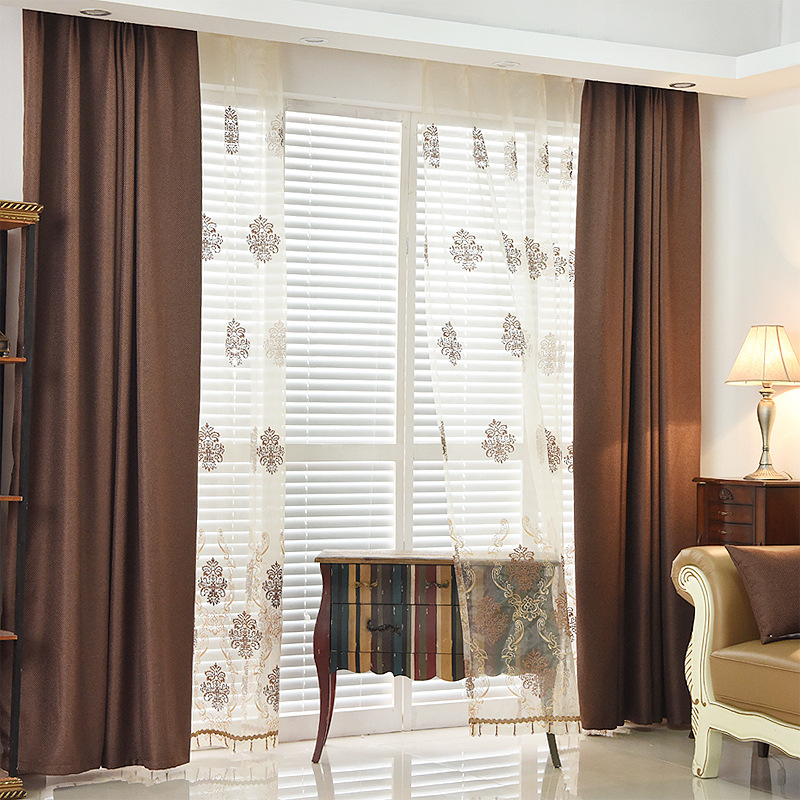 Byetee Modern Living Room Luxury Window Curtains Striped: {byetee} Modern Solid Color Luxury Brief Curtains For