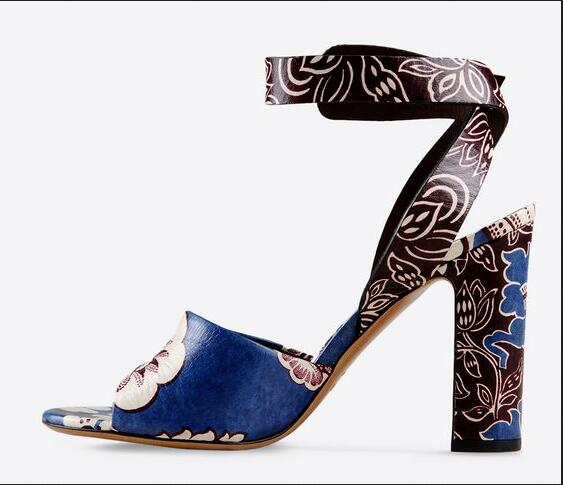 Amazing Fashion Newest Sandals Cut-Out Chunky Heels Peep Toe Hot Sale Women Shoes Summer Mixed-Colors Flowers Buckle new hot sale fashion rivets flowers studs chunky heel women sandals ankle flowers buckle party office shoes woman casual sandals