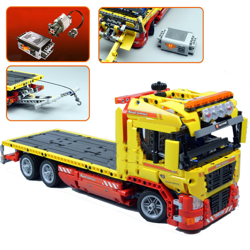Lepin 20021 1143pcs technic series Flatbed trailer Model Building blocks Bricks DIY Educational toys for children Gifts 8109 wange building blocks toys for children gifts architectures series 978pcs bricks diy educational no 8015
