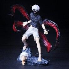 Boneco colecionável anime tóquio ghoul kaneki ken, modelo em pvc, 22cm