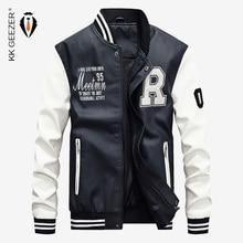 6c783056f7e Cuero de la Pu de moda chaqueta hombres chaqueta de soporte de la  motocicleta chaquetas de