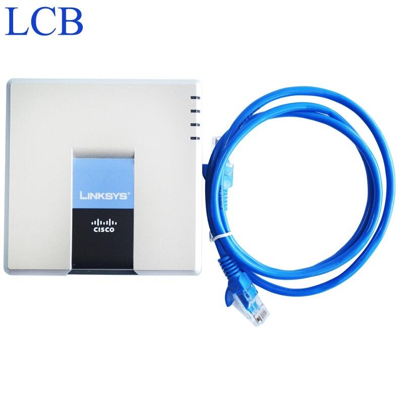 Débloqué Linksys adaptateur de téléphone IP VoIP SPA2102 SIP routeur serveur téléphonique 1 WAN 1 LAN 2 FXS Port IP système de service périphérique
