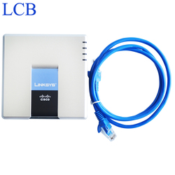 Desbloqueado linksys voip adaptador de telefone ip spa2102 sip roteador telefone servidor 1 wan 1 lan 2 fxs porta ip sistema de serviço dispositivo
