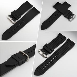 Image 2 - MAIKES Sport Watch Strap Watch Accessories Fluoro Rubber Watch Band 20mm 22mm 24mm Watchband Bracelet For Seiko Citizen MIDO