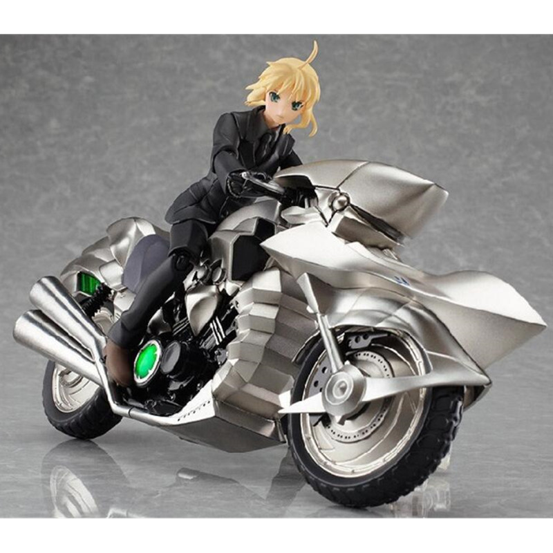 ФОТО Anime Figma Fate/Stay Night with Motorcycle PVC Action Figure Collectible Toy 15CM