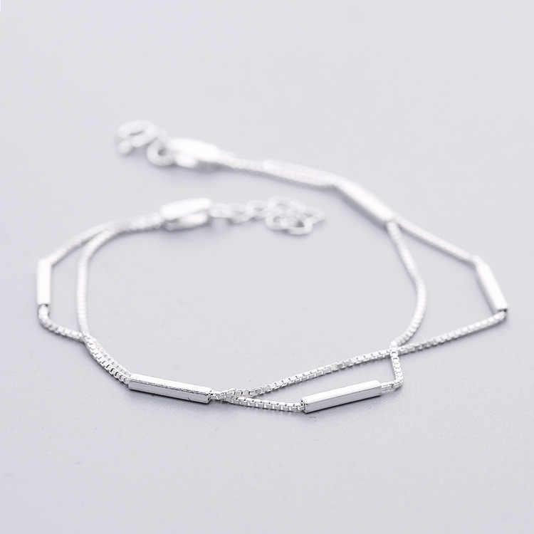 925 Sterling Silver Simple Round Bracelets & Bangles New Fashion Bracelet For Women sterling-silver-jewelry