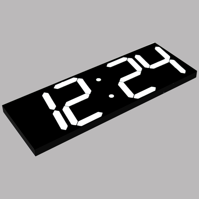 Large Digital  Wall Clock Modern Design Display 12/24 Hours Calendar Temperature Alarms In The Living Room  Fashion  Home Decor