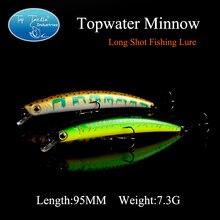 Free Shipping Freshwater Long Shot Fishing Lure Minnow 95mm 7.3g