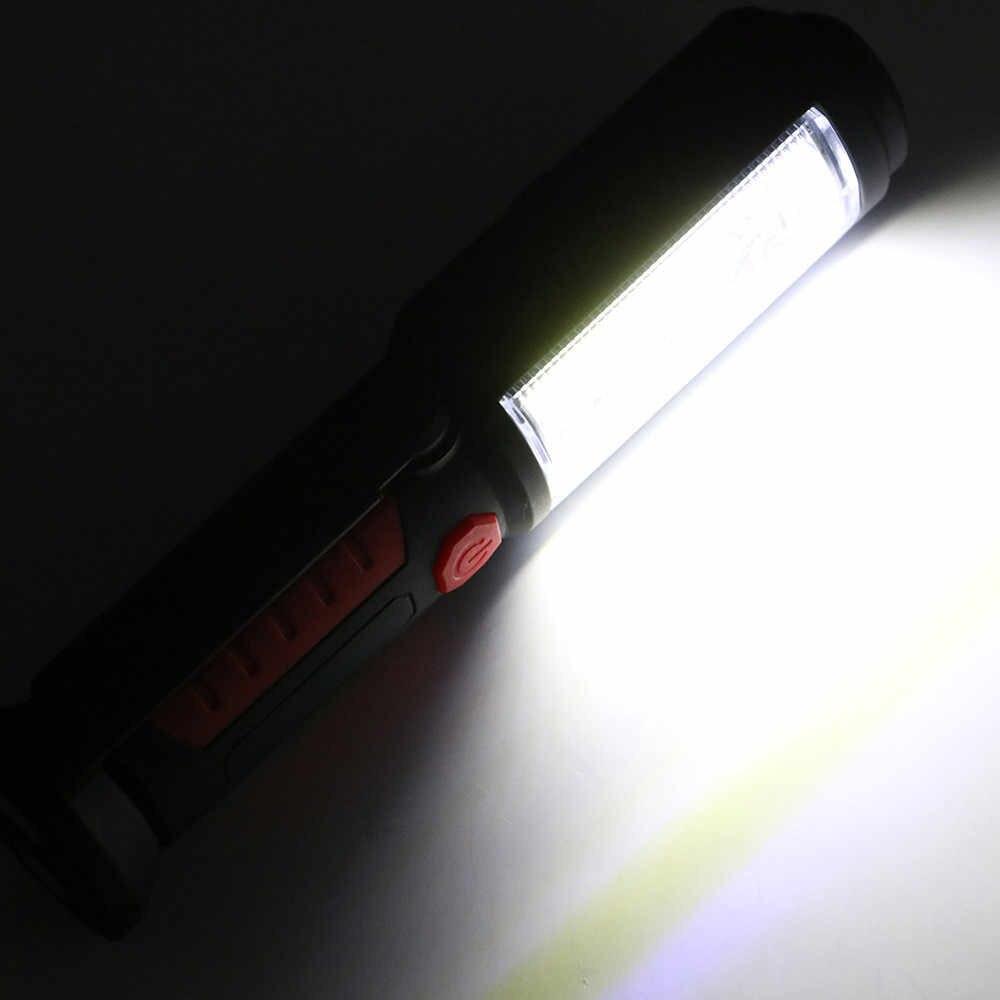 2in1 LED COB Camping travail Inspection lumière lampe torche à main magnétique réglable main torche magnétique Portable USB lampe de poche