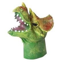 20cm Realistic Dinosaur Figures Hand Puppets Soft Vinyl Rubber Animal Shark Cow Head Action Finger