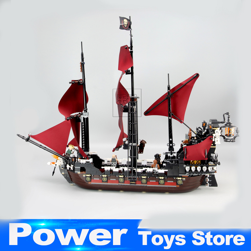 New LEPIN 16009 1151pcs Queen Anne's revenge Pirates of the Caribbean Building Blocks Set Bricks Compatible legoed 4195 870pcs new pirates of the caribbean brickbeard s bounty 308 model building blocks bricks educational toys compatible with lego