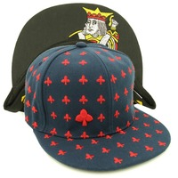 2015 New Embroidery Hip Hopsnapback Cap With Poker Cards Playingcards Logos Heart Diamond Club Spade For